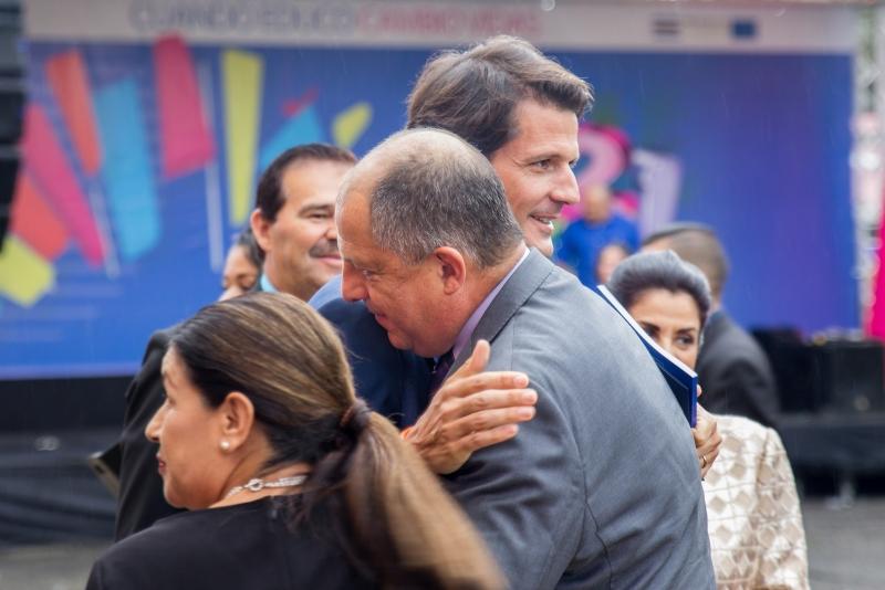 Llegada del señor Presidente de la República, Luis Guillermo Solís Rivera